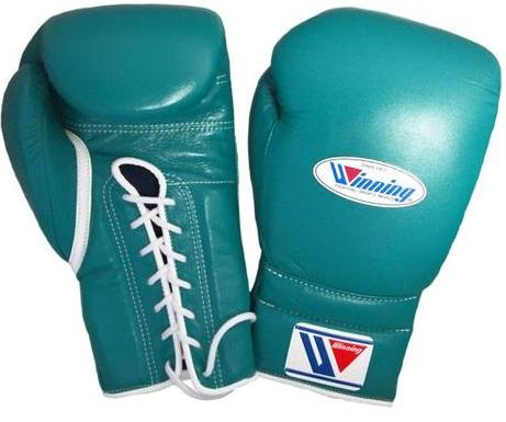 Winning Lace-up Boxing Gloves - Green - WJapan Store