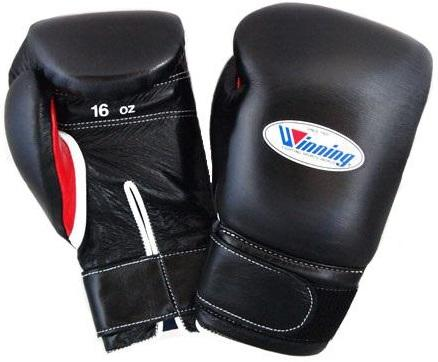 Winning Velcro Boxing Gloves - Black · Red - WJapan Store