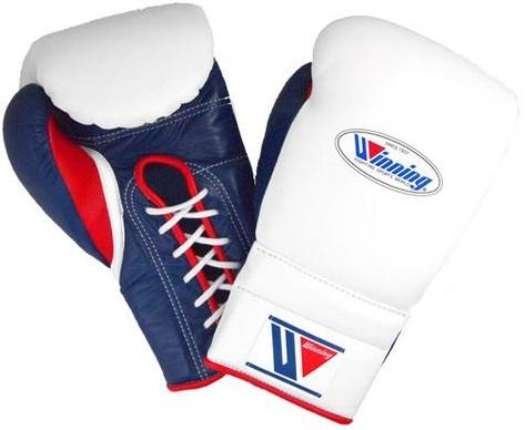 Winning Lace-up Boxing Gloves - White · Navy · Red - WJapan Store