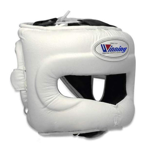 Winning White Full Face Bar Headgear - WJapan Store