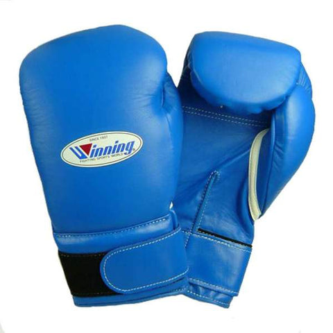 Winning Blue Velcro Boxing Gloves