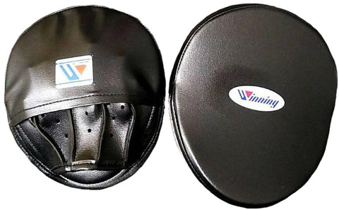 Winning Oval Curved Punch Mitts - Black
