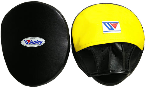 Winning Oval Curved Punch Mitts - Black · Yellow