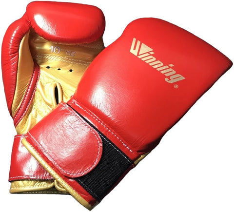 Winning Velcro Boxing Gloves - Special Logo - Red · Gold - WJapan Store