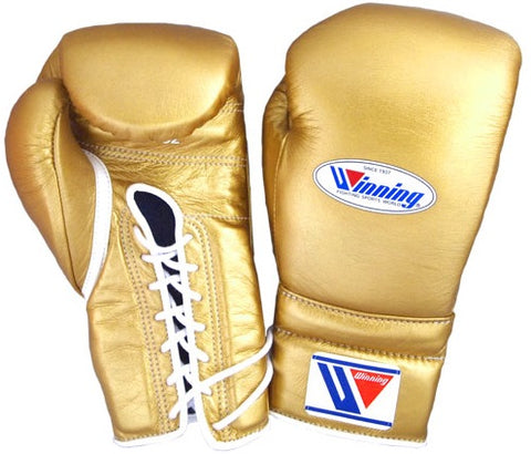 Winning Lace-up Boxing Gloves - Gold - WJapan Store
