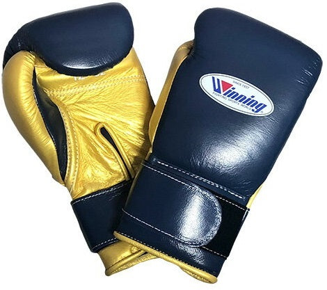 Winning Velcro Boxing Gloves - Navy · Gold - WJapan Store