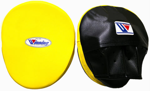 Winning Oval Curved Punch Mitts - Yellow · Black