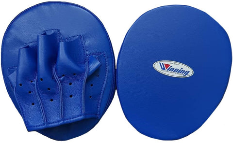 Winning Oval Curved Punch Mitts - Blue - WJapan Store