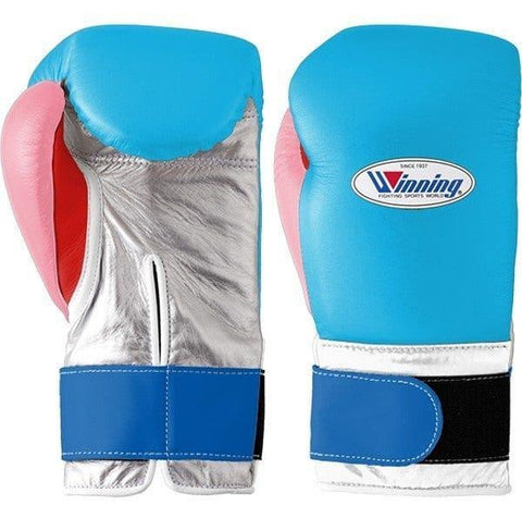 Winning Velcro Boxing Gloves - Sky Blue · Silver · Pastel Pink · Red - WJapan Store