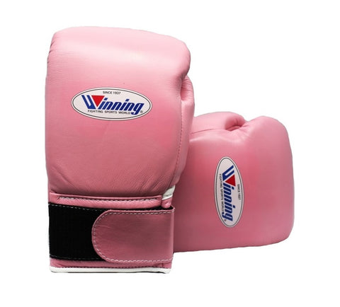 Winning Velcro Boxing Gloves - Pastel Pink
