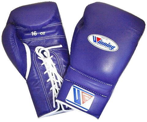 Winning Lace-up Boxing Gloves - Purple - WJapan Store
