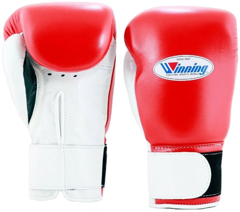 Winning Velcro Boxing Gloves - Red · White · Black - WJapan Store