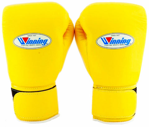 Winning Velcro Boxing Gloves - Yellow - WJapan Store