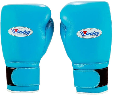Winning Velcro Boxing Gloves - Sky Blue - WJapan Store