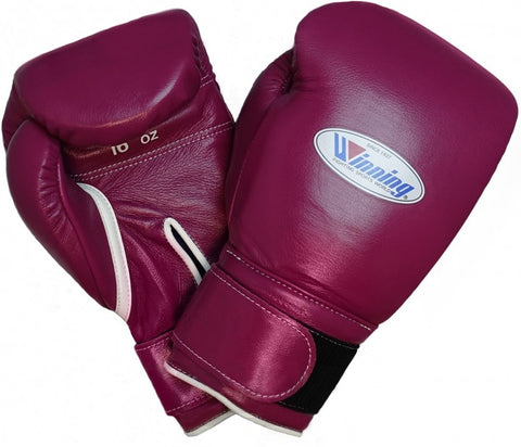 Winning Velcro Boxing Gloves - Wine Red - WJapan Store