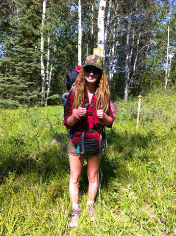 backpacking woman