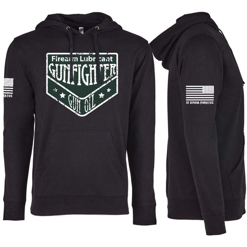 Gunfighter Gun Oil Distressed Logo Hoody
