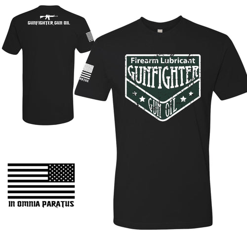 NEW Gunfighter Gun Oil Distressed Logo Tee