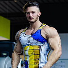 Battle Worn Vegeta Armor Tank Top - Saiyan Fever