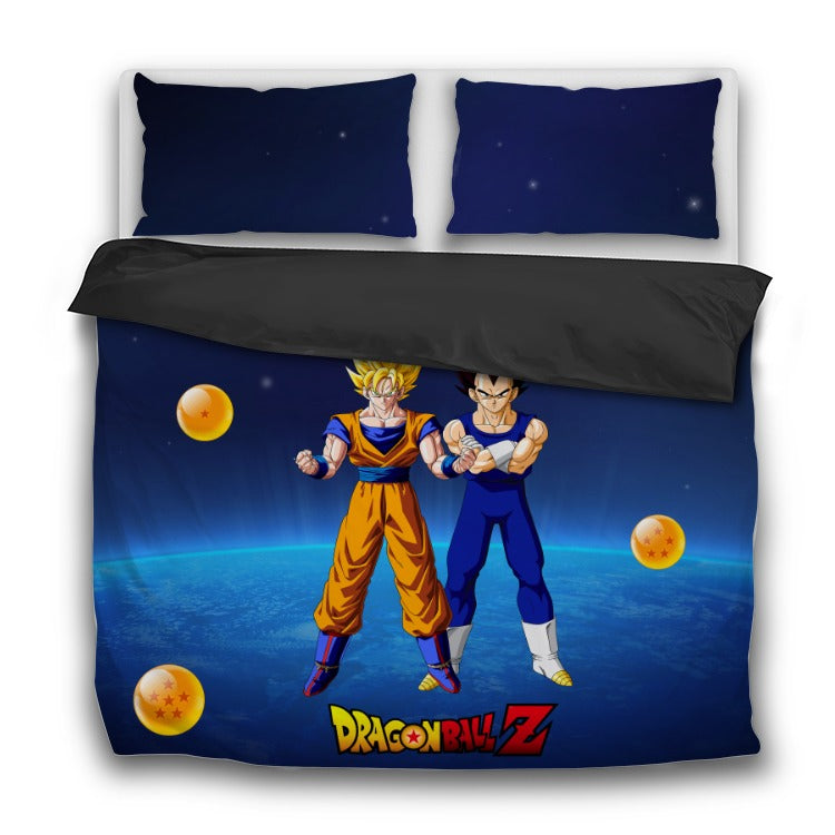 Dragon Ball Z 3 Piece Bedding Set - Goku and Vegeta - Saiyan Fever