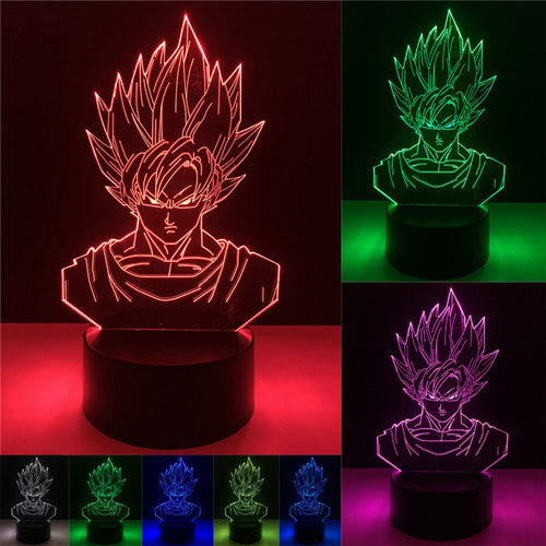 3D Dragon Ball Z LED Lamp - Super Saiyan Goku - Saiyan Fever