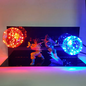Vegeta and Goku Fighting LED Lamp - Saiyan Fever