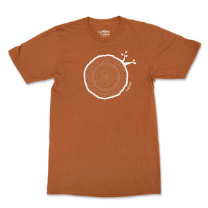 14th Birthday Tshirt Countable Tree Rings Texas Orange