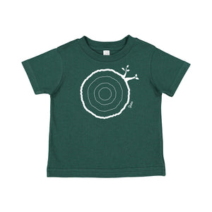 3rd Birthday Tshirt Countable Tree Rings Forest Green