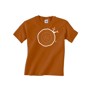6th Birthday Tshirt Countable Tree Rings Texas Orange