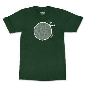 Open image in slideshow, 89th Birthday Tshirt Countable Tree Rings Forest Green