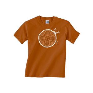 9th Birthday Tshirt Countable Tree Rings Texas Orange
