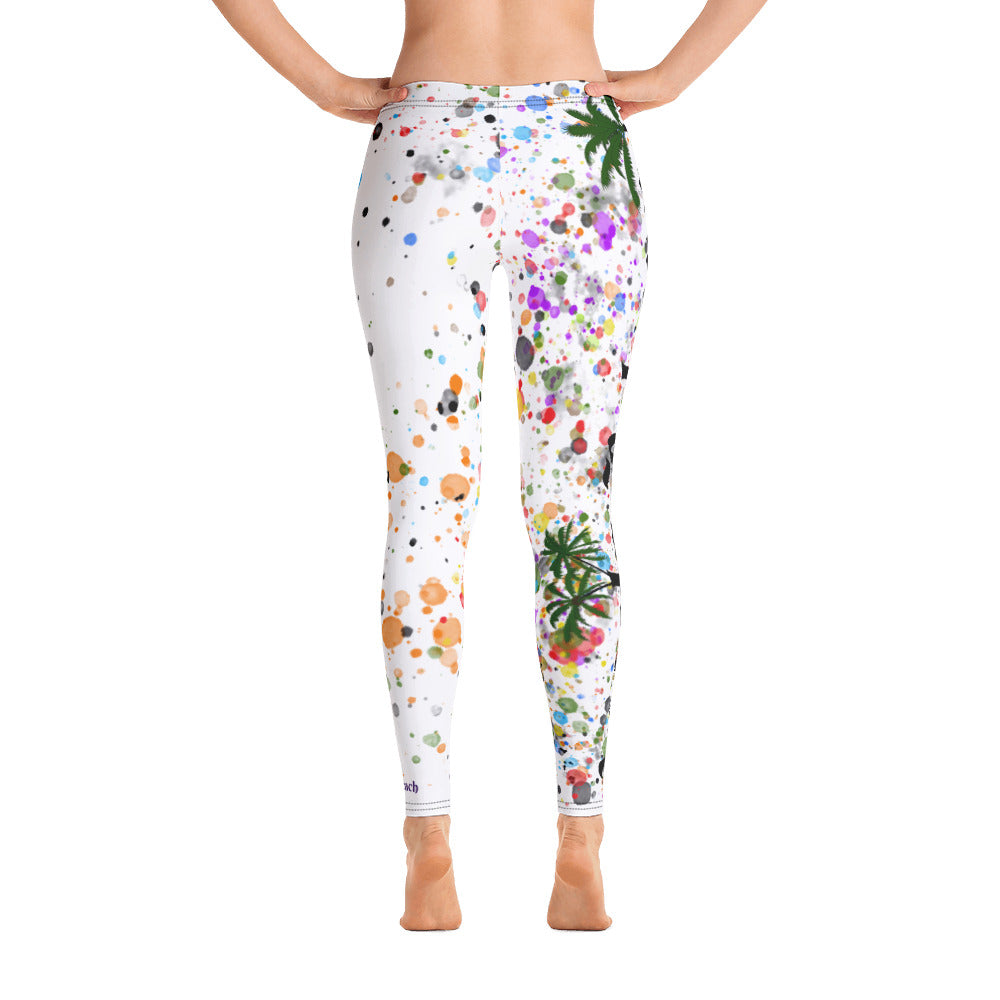 Palm Tree Paint Drop Leggings