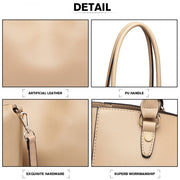 Apricot Tote and Shoulder Bag (2 Pieces) - Troublemaker.gr