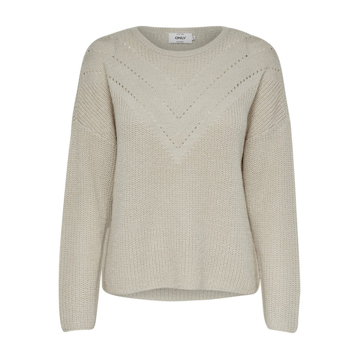 Only Maye Beige Pullover Knit - Troublemaker.gr
