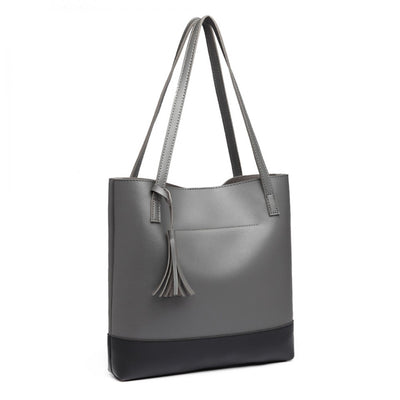 Black & Grey Shoulder Bag - Troublemaker.gr