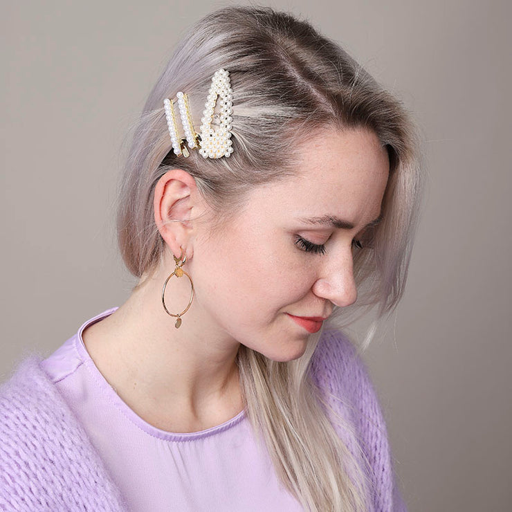 Small Oldschool Pearl Hairclip - Troublemaker.gr