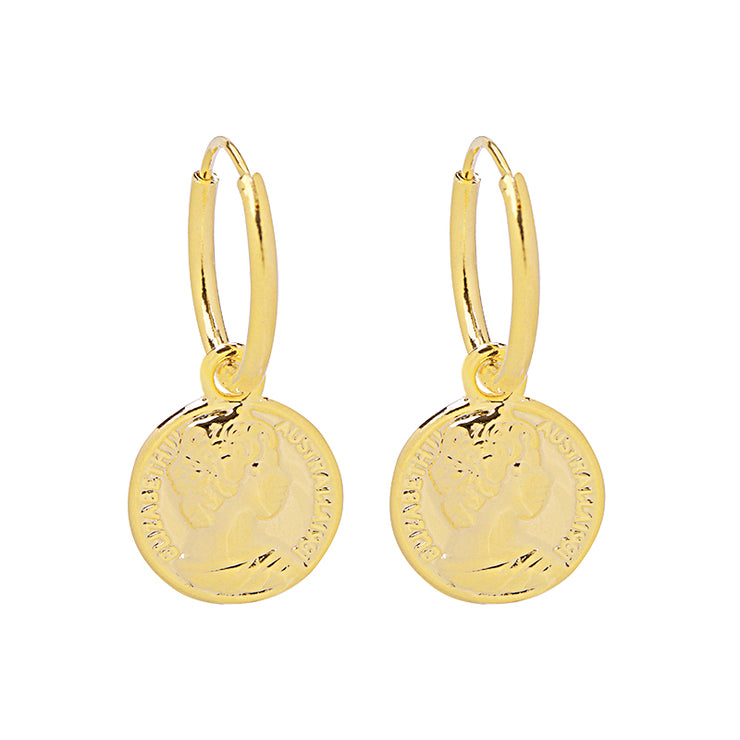 Gold Caesar Earrings - Troublemaker.gr