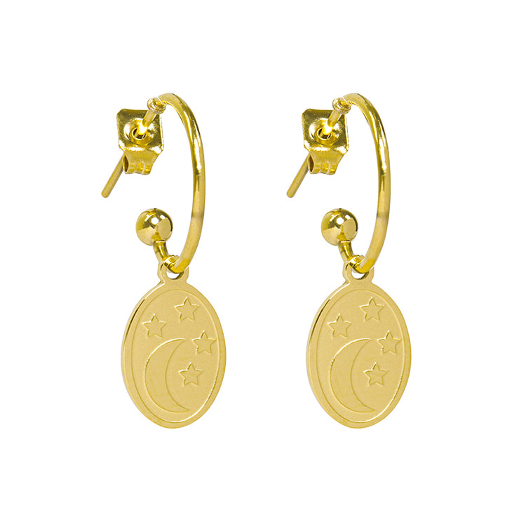 Gold Dream Night Earrings - Troublemaker.gr