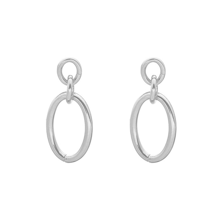 Holly Chic Silver Earrings - Troublemaker.gr