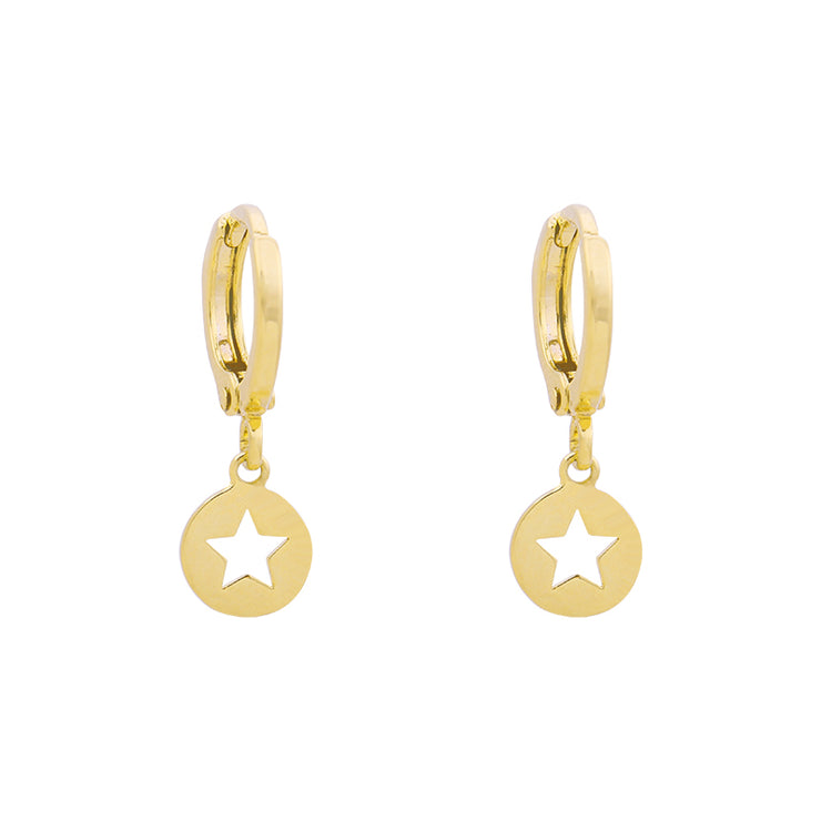 Gold Catch a Star Earrings - Troublemaker.gr