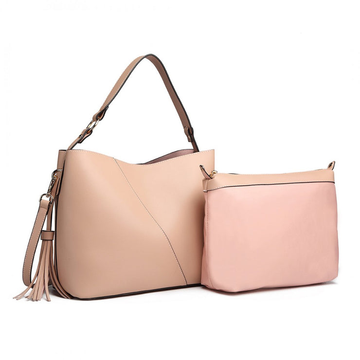 Pink Shoulder Bag (2 Pieces) - Troublemaker.gr