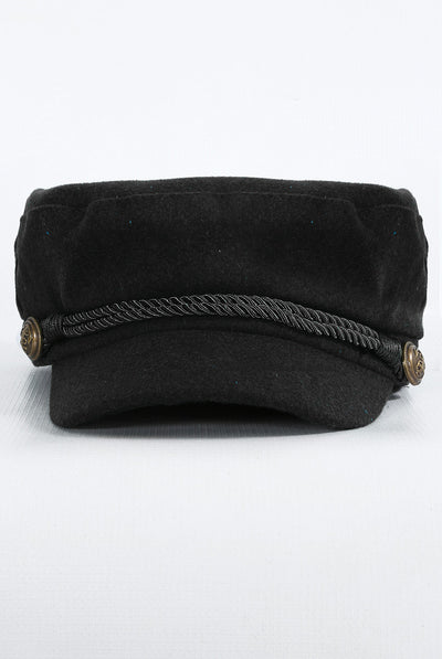 Black Baker Boy Hat - Troublemaker.gr