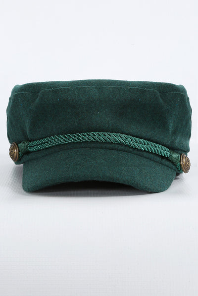 Green Baker Boy Hat - Troublemaker.gr