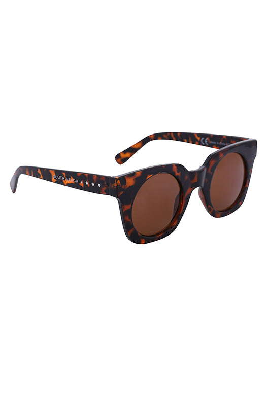 South Beach Tortoiseshells Chunky Frame Sunglasses - Troublemaker.gr