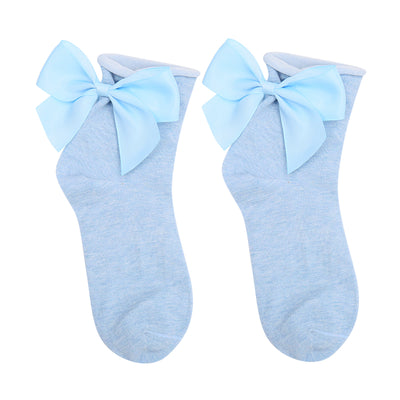 Blue Cute Bow Socks - Troublemaker.gr