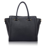 Black Tote Shoulder Bag - Troublemaker.gr