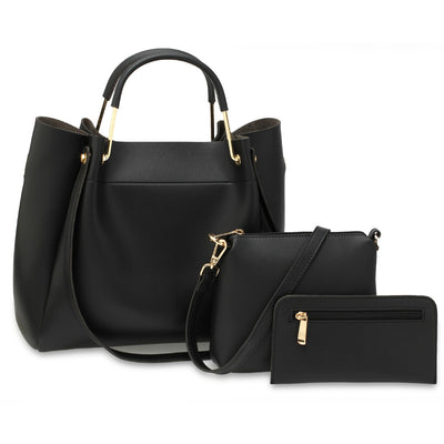 Black 3-Piece Tote Bag (3 τεμάχια) - Troublemaker.gr