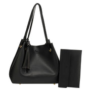 Black 2-Piece Shoulder Bag (2 τεμάχια) - Troublemaker.gr