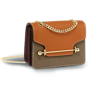 Brown / Tan / Burgundy Flap Style Cross Body Bag - Troublemaker.gr