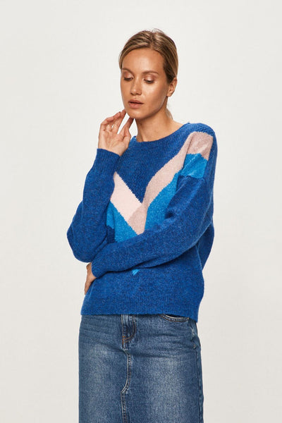 Only Blue Striped Pullover Knit
